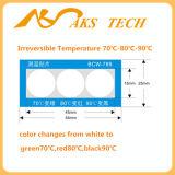 L'étiquette d'avertissement de la température pour la soudure préchauffent le matériel