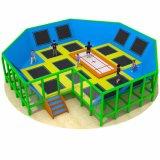 Parque de interior modificado para requisitos particulares del trampolín de los cabritos de la talla, parque de salto del amortiguador auxiliar de los cabritos
