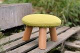 固体木の腰掛けの円形の腰掛けファブリック腰掛け(M-X2583)