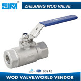 шариковый клапан давления 3000wog 2PC высокий с фиксировать