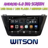 """Grand écran 10,2"""" Witson Android 6.0 voiture DVD pour Volkswagen Tiguan 2017"""