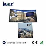 Aduana hermosa tarjeta video del folleto de 6 pulgadas con buena calidad