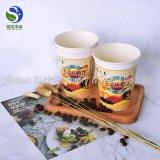 Tazas de café dobles disponibles impresas insignia del papel de empapelar