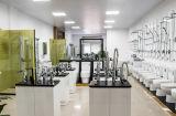 Lavabo de colada de cerámica de las mercancías del fabricante de China de la encimera superficial sólida blanca sanitaria del cuarto de baño (7033D)