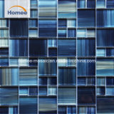 Mosaico de vidrio azul azulejos Piscina