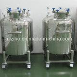 100-1000L tanque de almacenamiento de acero inoxidable vaso mezcla
