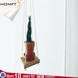 Бак зеленого завода корабля подарка дома декора веревочки хлопка Handmade вися
