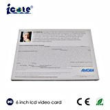 Heiße angegebene Videokarte-videobroschüre des Verkaufs-2017 Fabrik 6 Zoll LCD-Bildschirm