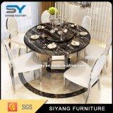 Mobiliário chinês Home Mesa Redonda ao redor da mesa de jantar em mármore