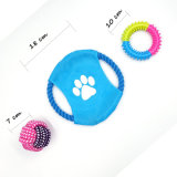 Haustier-gesetzte Kugel-Kauen-Fliegen-Platten-Schlepper-Hundespielwaren