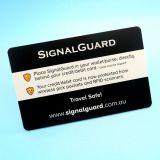 Anti Skimming Protector de cartão de crédito cartão de sinal do bloqueador de RFID