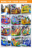 Combinado inflável inflável da corrediça de água da corrediça inflável colorida gigante do castelo da torneira para miúdos