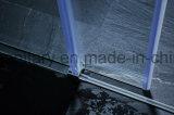 Le rotelle della puleggia lisciano l'allegato dell'acquazzone di vetro di scivolamento