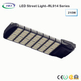Luz de rua 210W do diodo emissor de luz do poder superior IP65 com excitador de Meanwell