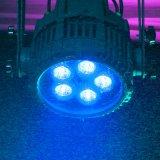 La IGUALDAD caliente de la venta 5*10W 4in1 RGBW Alunium LED de Rasha puede impermeabilizar la luz al aire libre de la etapa de la luz LED de la IGUALDAD del LED