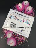 Collant acrylique de face de diamants de renivellement d'oeil de collants de Rhinestone de face d'oeil d'arts du spectacle de collant de tatouage (E16)