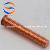 Parafuso rosqueado do chapeamento de cobre de aço de carbono M5*18 (pinta) ISO13918
