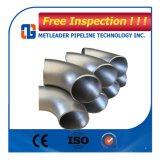ASME B16.9 SS304 316 tubo inconsútil del codo del acero inoxidable de 90 grados