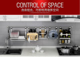 Шкаф инструментов кухни держателя стены нержавеющей стали вспомогательный варя