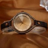 한 쌍 (WY-001E)를 위한 가죽끈 합금 상자 쿼트 Cassuel 주문을 받아서 만들어진 시계