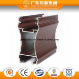 China gran fábrica de extrusión de la puerta y ventana de aluminio color madera