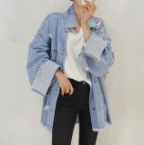 2017 최신 판매 데님 재킷 대중적인 구멍 형식 재킷
