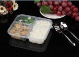Contenitore di alimento di plastica a gettare con il coperchio