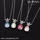 Chains Necklace를 가진 44006 Xuping Water Drop Crystals From Swarovski Pendant Wholesale