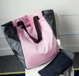 As mulheres de moda bolsas grandes sacos de ombro dobrável e sacos de compras, sacos de dobragem reutilizáveis sacos sacola de designer