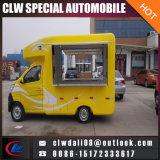 機械を持つヴァンを販売する食糧販売のトラックの移動式レストランのファースト・フード