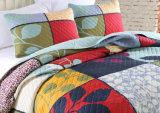 Il Comforter lavabile ha impostato il copriletto 100% ed il Coverlet della casa di qualità della trapunta del cotone per personalizzato