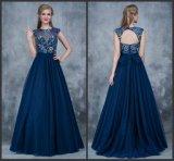 Manchons de PAC Partie fashion robe de soirée robes de la Prom de tulle de la Marine Z5028