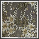 女の子の服のためのかわいい花のテュルの刺繍のレース