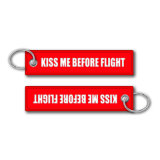 Cor vermelha personalizada Keychain da etiqueta do Tag da bagagem