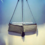 Saco da bolsa da embreagem do ombro de Crossbody do mensageiro do Tassel do metal mini