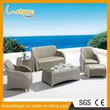 Vector y silla modernos determinados del sofá de la rota del hogar del ocio del jardín con muebles al aire libre de mimbre del hotel del salón del patio del conjunto del taburete del pie