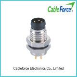 Разъем IP67 PCB M8 3pin мыжской делает разъем водостотьким для датчика и привода с контактами PCB