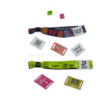 13.56MHz coloridos tejidos impresos NFC Etiqueta Pulsera RFID
