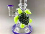 Bontek blaue Glasschildkröten-rauchende Wasser-Rohr-Rauch-Rohre