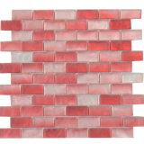 Nuevo Muro Backsplash cambio gradual decorativos mosaico de vidrio de color rojo