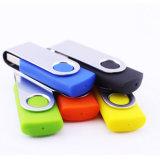 Unidade Flash USB giratória 128 MB 1 GB com Caixa Metálica para barato Brindes Promocionais