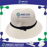 Chapéu de palha do papel da cubeta das mulheres (AZ011A)