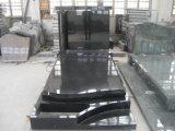 Pierre tombale américaine de cimetière de type de granit noir de Shanxi
