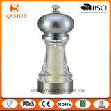 Moulin de poivre manuel acrylique de sel de première vente avec inoxidable