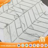 Volakasのタイルの六角形のBacksplash (V678006)のための白いガラスモザイク浴室の壁のタイル
