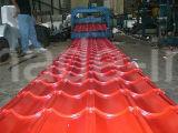 El color de alta calidad de techos vidriado hojas/ con el precio de fábrica de techos de metal corrugado