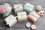 Rectángulo de color de empaquetado plegable del papel de la mano de la vendimia del jabón fino del tatuaje