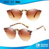 As mulheres formam a 2018 cores novas redondas retros dos doces os óculos de sol Rimless Cj7719 no estoque