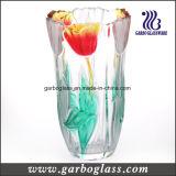 Vaso da grande cor e do vidro geado