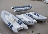 Barco inflável da casca da fibra de vidro do barco do reforço do PVC de Liya 2.4-5.2m
